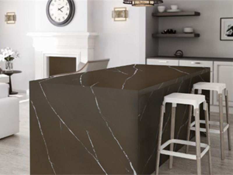 Brown Marquina Quartz Countertop TQ-B