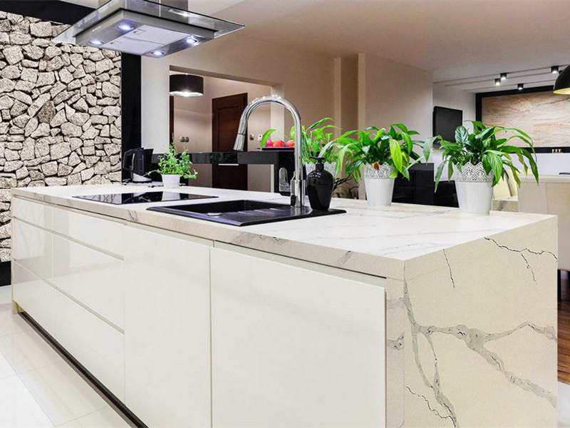 Statuary White Quartz Countertop TQ-SW206
