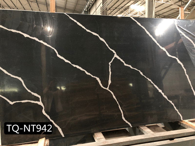 Calacatta Black Quartz Slabs TQ​