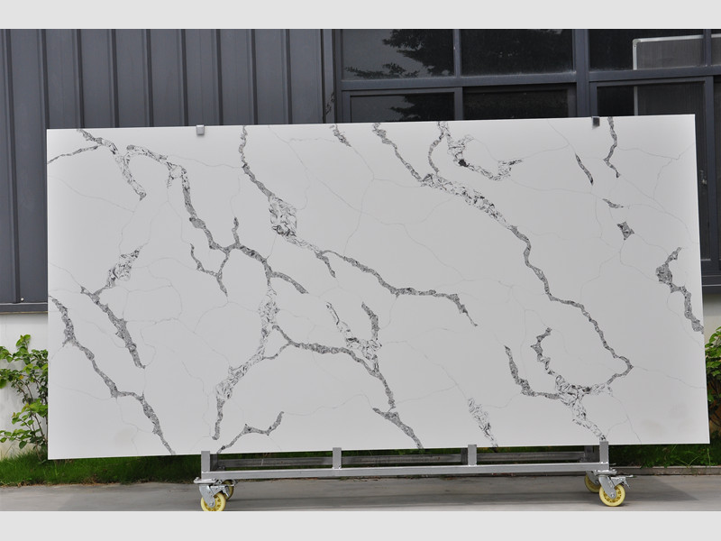 Calacatta White Quartz Slabs Supplier TQ-NT303