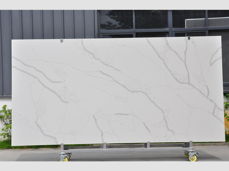 Polished Calacatta Quartz Slabs TQ-NT309