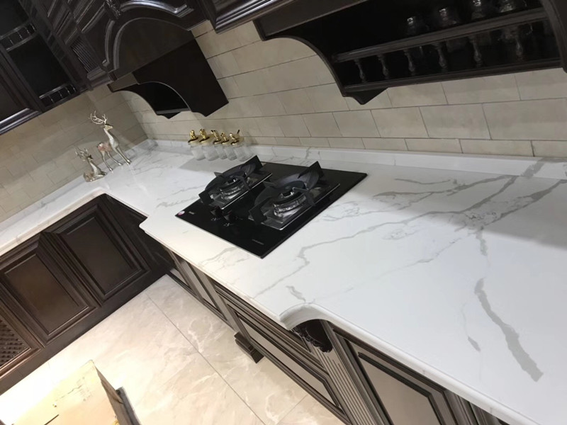 Calacatta White Quartz Countert