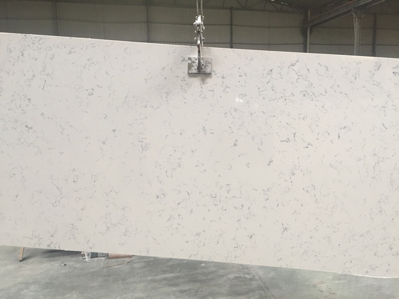 Middle White Quartz Slabs TQ-VN1001