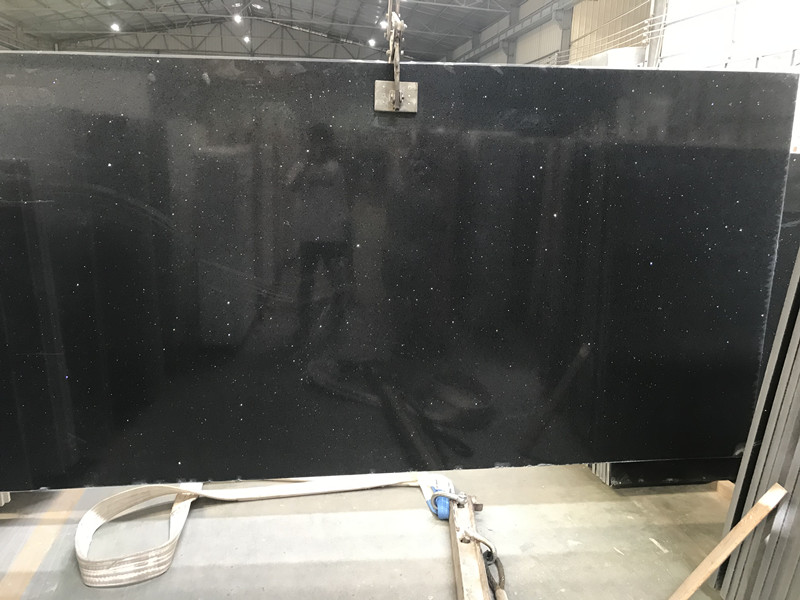 Sparking Black Quartz Slabs​
