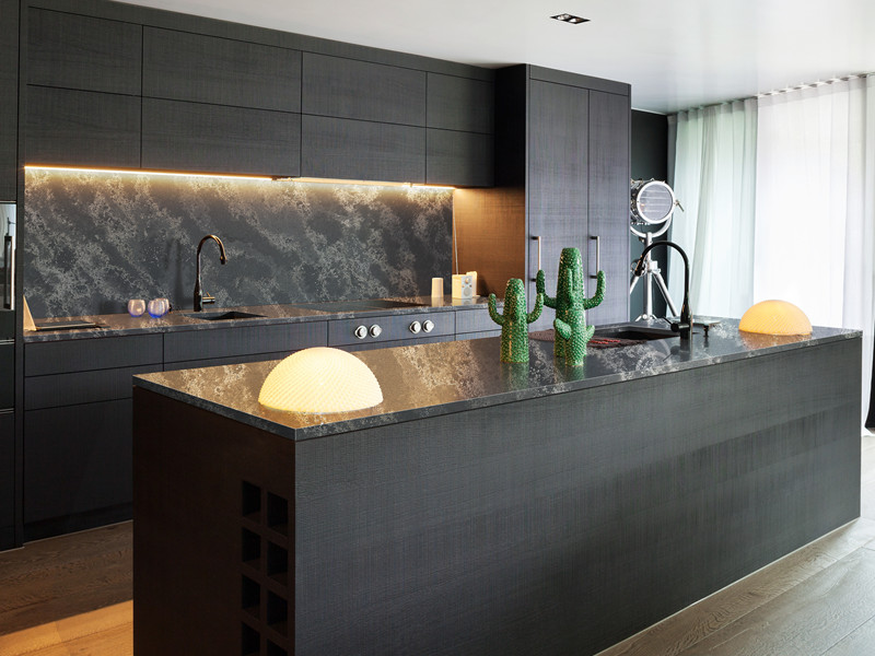 Dark Grey Quartz Countertops wi​