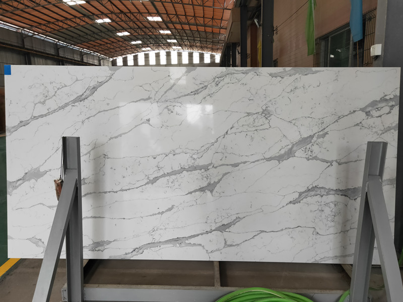 Polished Calacatta Quartz Slabs​