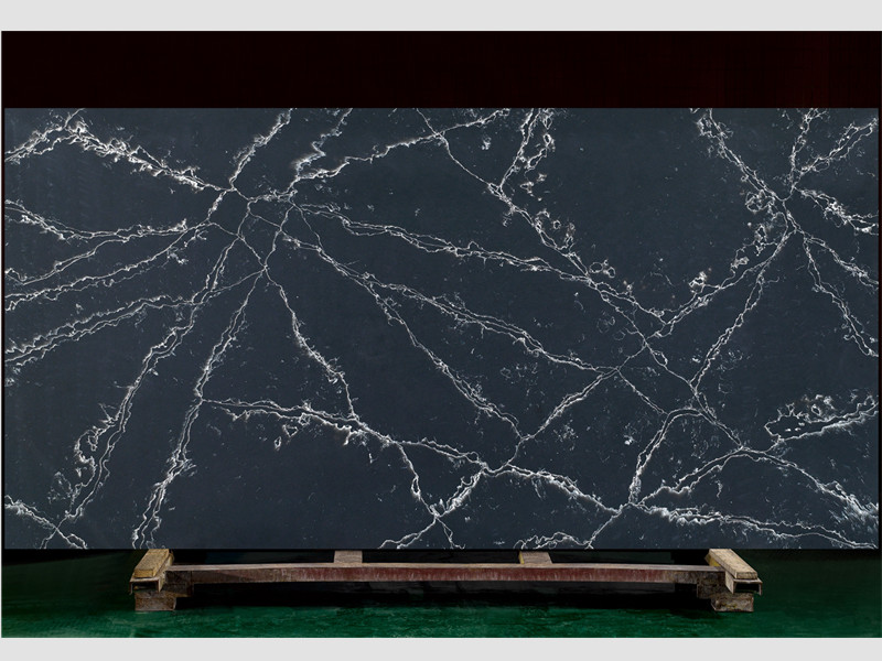 Dark Blue Quartz Stone Slabs TQ-A5029