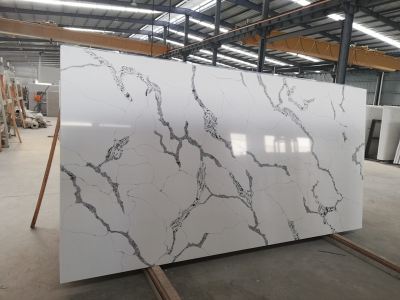 Calacatta White Quartz Slabs Su​