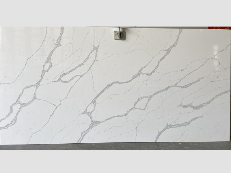 White with Vein Quartz Slabs TQ​