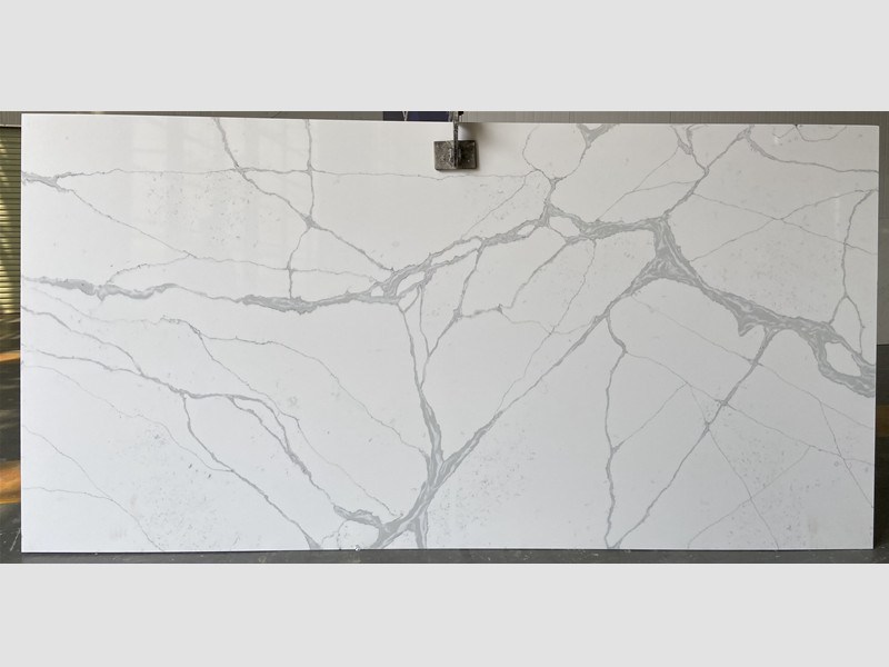 White Quartz Slabs with Grey Ve​