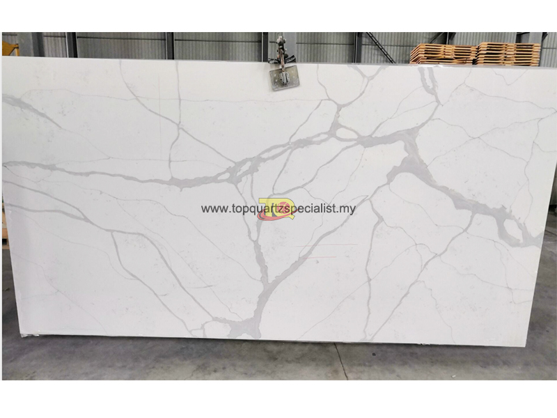Grey quartz vein white quartz countertop table TQ-NT401 wholesale