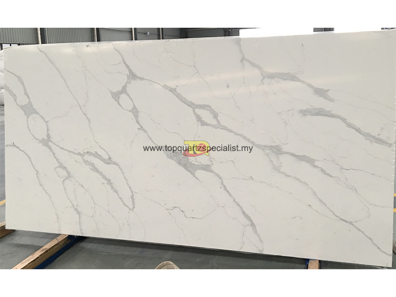 White calacatta quartz slabs TQ​