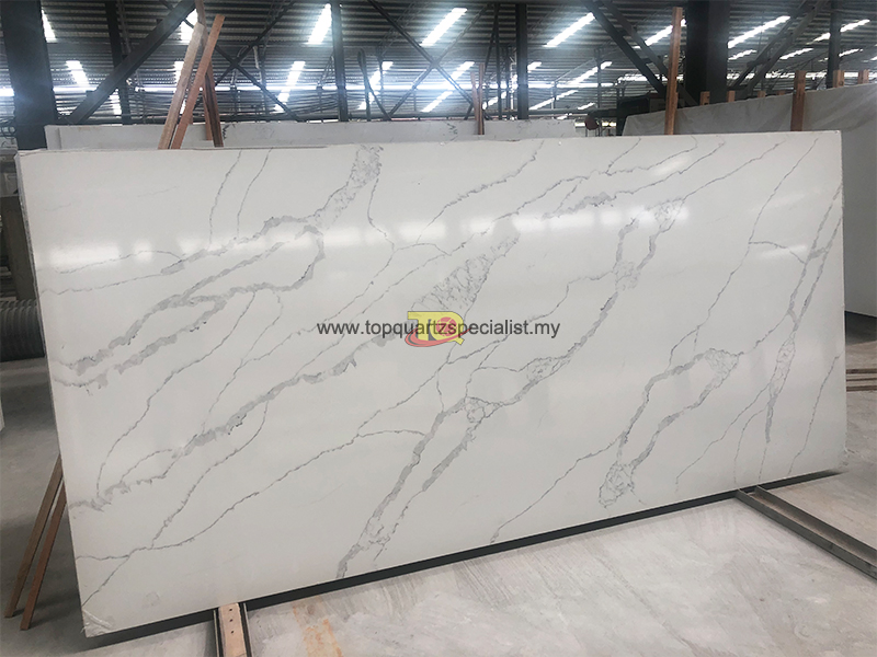 Calacatta white quartz countertop slab wholesale (E1004 )
