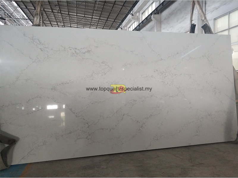 Kitchen countertop quartz slabs artificial tiles outlet D2018