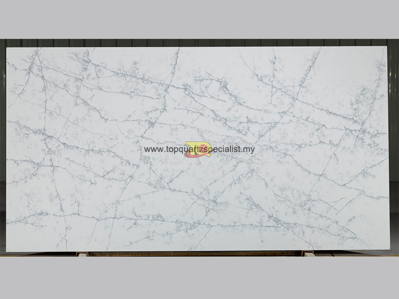 Quality calacatta white quartz stone from manufacturers TQ-D2016