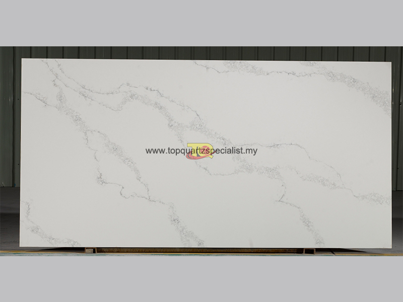 Cloudy pattern veins white calacatta quartz TQ-D2014