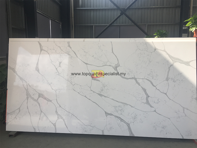 White quartz stone tiles counte