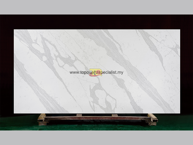 Original calcatta white quartz kitchen countertops TQ-A5026 wholesale