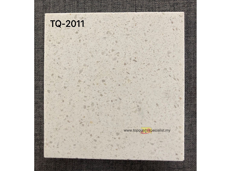 White quartz crystal artificial stone slab for kitchen tops TQ-2011