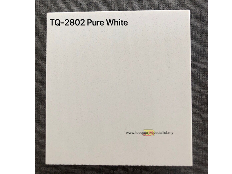 Quartz solid surface pure white grain quartz slabs TQ-2802 project