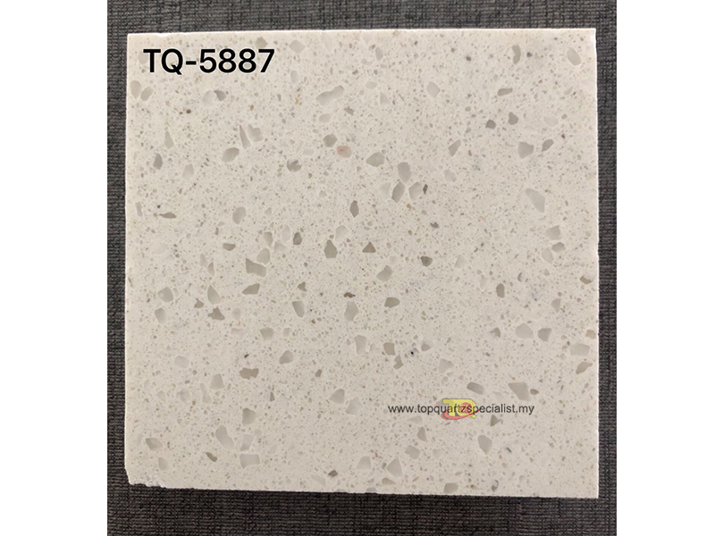 White quartz countertop kitchen engineered quartz TQ-5887 supplier