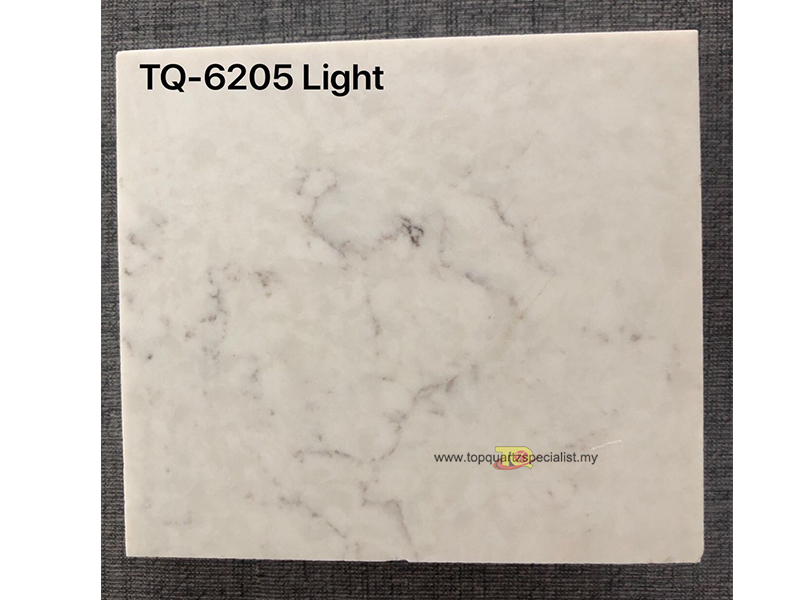 Grey fine lines vein with white bottom quartz slabs TQ-6205