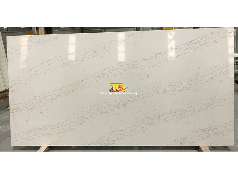 Best Malaysia White Quartz Kitchen Countertops Brands Manufacture(TQ-B4027)