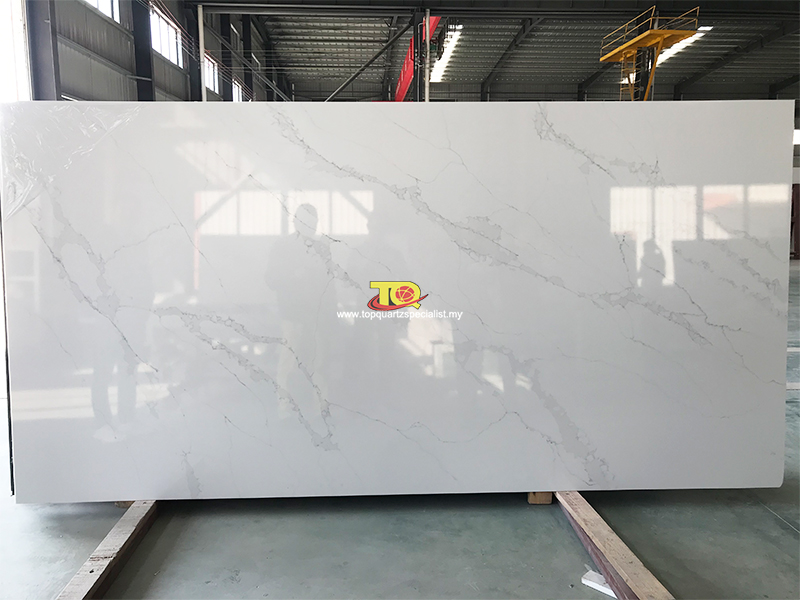 Malaysia Supply Custom OEM Kitchen quartz countertop Produce Factory Quotes(TQ-C3022)