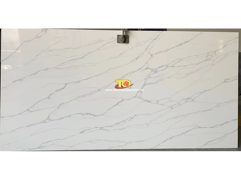engineered quartz countertops supplier calacatta quartz slabs B4026