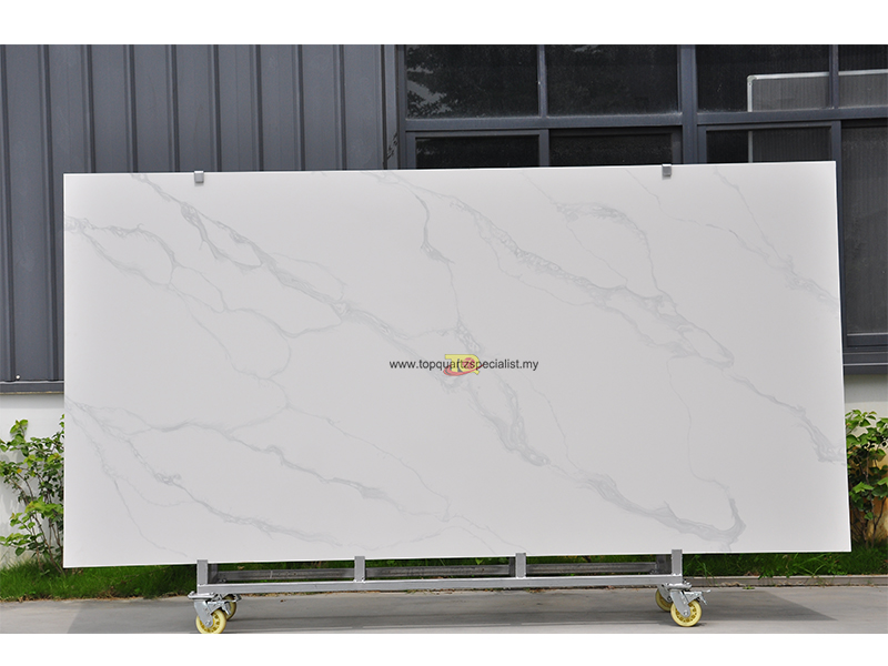 Calacatta White Quartz Slabs Ma