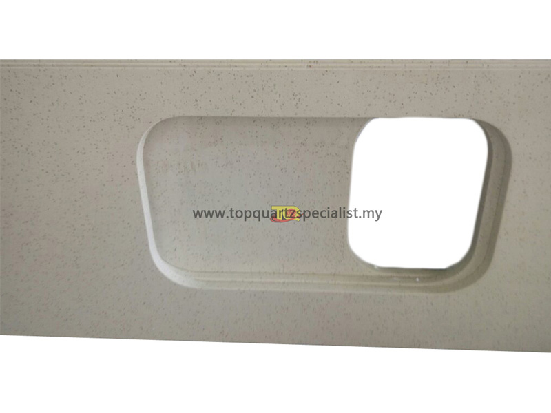 Artificial White Grey Beige Artificial Stone Slabs Quartz for Countertops & Vanity tops TQ-CR117