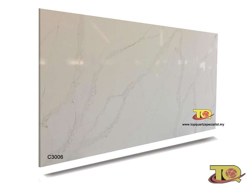 Kitchen countertops supplier quartz material for building project TQ-C3006