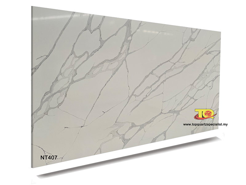 White quartz kitchen worktops quartz suppliers TQ-NT407