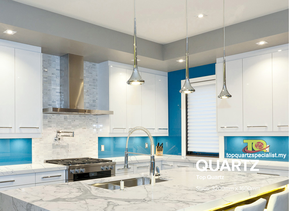 Quartz stone plates can be used there