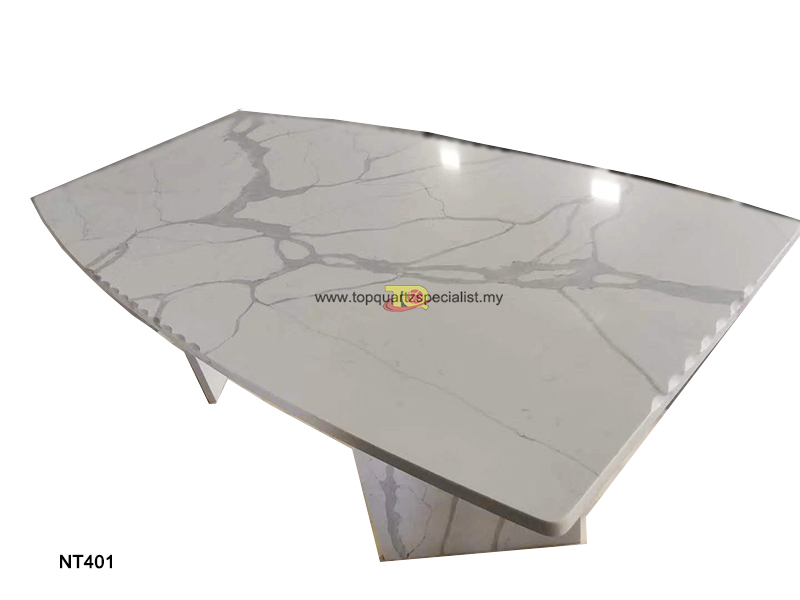 Table design white calacatta qu