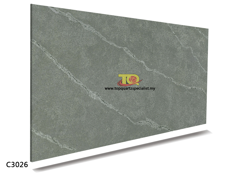 Quartz stone grey color good qu