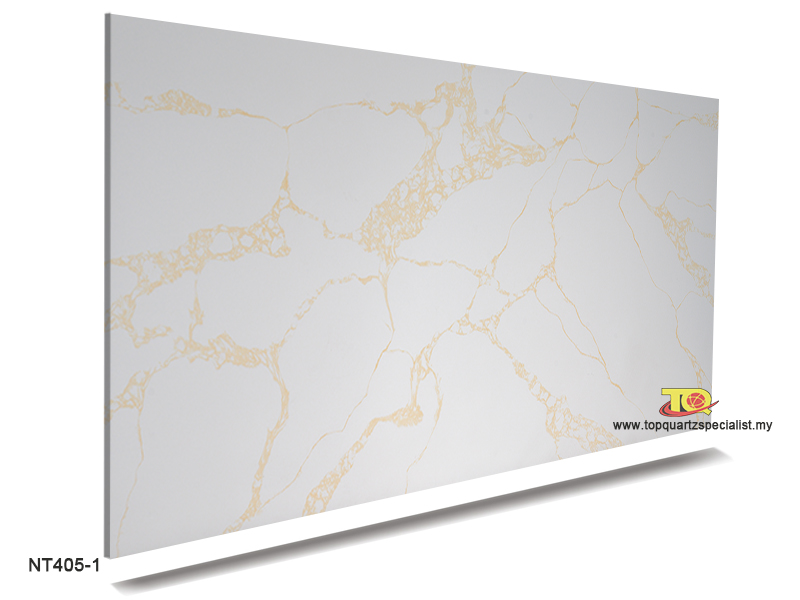 Calacatta gold quartz solid surface kitchen counters factory NT405-1