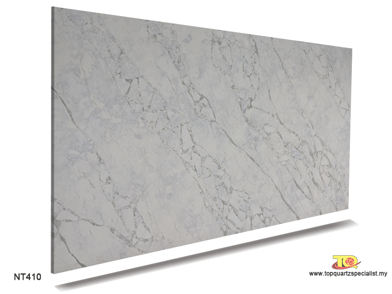 Marble look quartz countertops manufacturers in Malaysia TQ-NT410