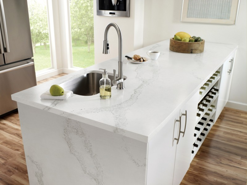 Calacatta White Quartz Projects