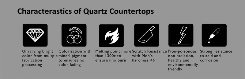 characterastics of quartz countertops